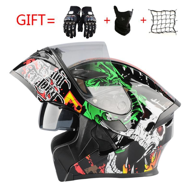Flip Up Motorcycle Helmet Women Man Modular Racing Capacete Helmet Casco Moto Cascos Para Moto DOT Motocross Casque