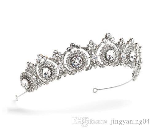 2019 New Best-Selling Diamant-Kronen-Braut Kopfbedeckung Haar-Band-Prinzessin Birthday Crown Schmuck Factory Direct Sales