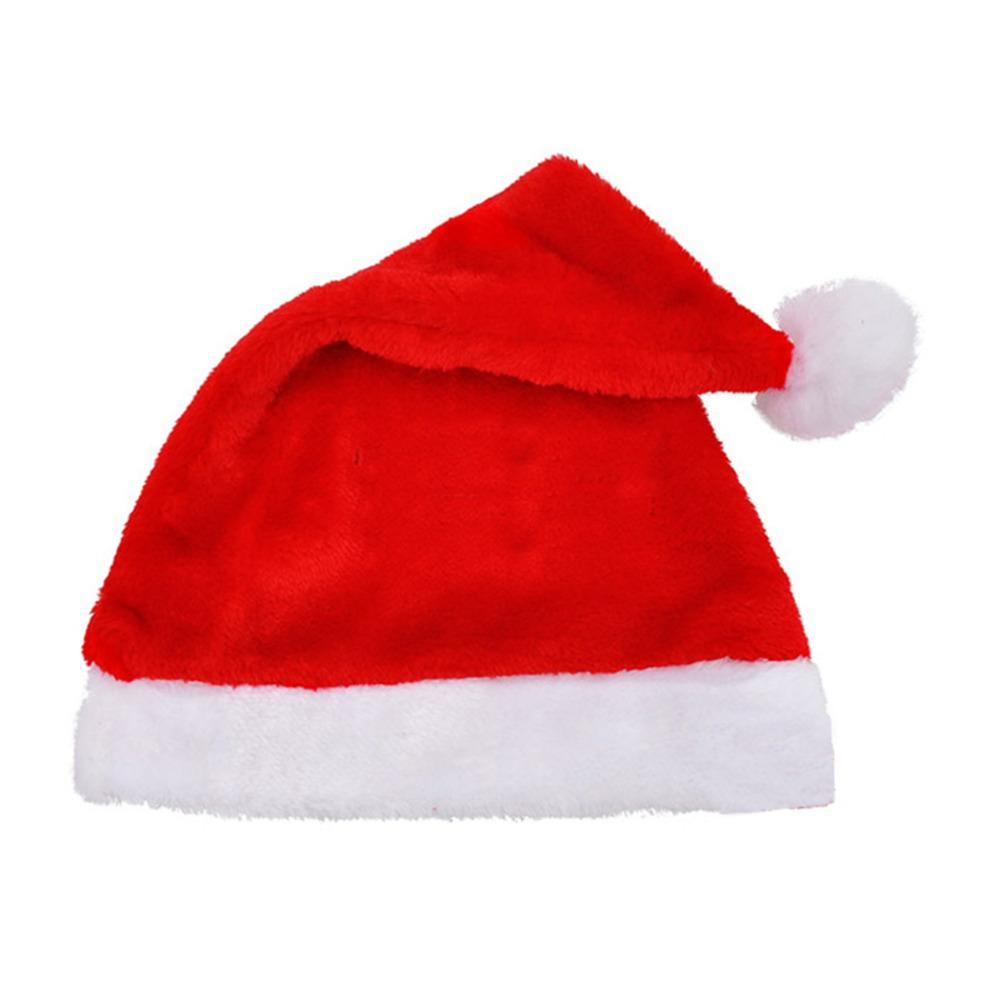 For Sale New Years Christmas Party Santa Hats Red And White Cap Christmas Hat For Santa Claus Costume XMas Decoration Adult