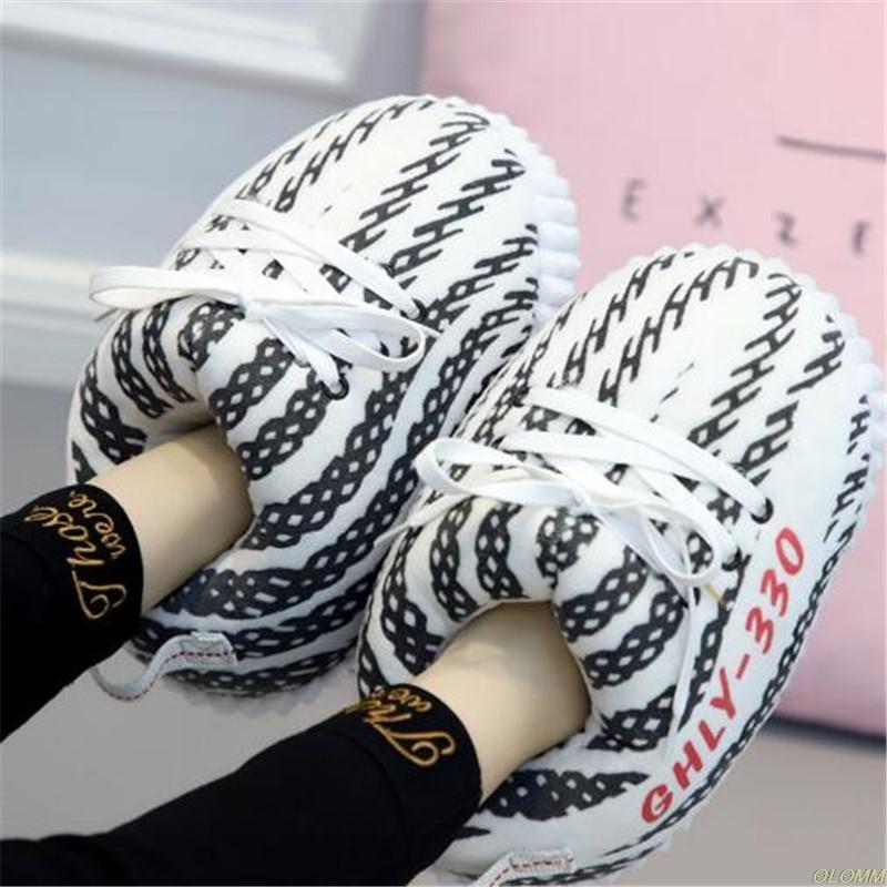 das mulheres Cotton Inverno Chinelos Foam Sneakers pão quente Fat Shoes Senhoras Slides Bonito Quente interior Plush Início sapatos tamanho 35-43 Hot