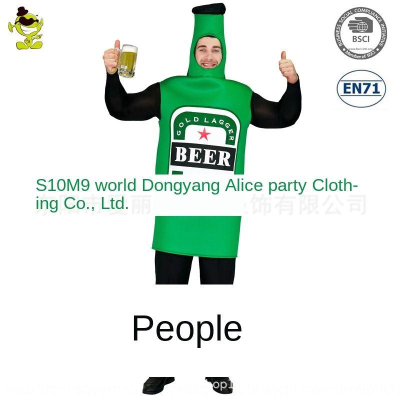 Big Acting Flasche männliche Bierflasche Overall Beer Festival Parodie Cosplay Partei Kleidung Rollenspiel Kleidung