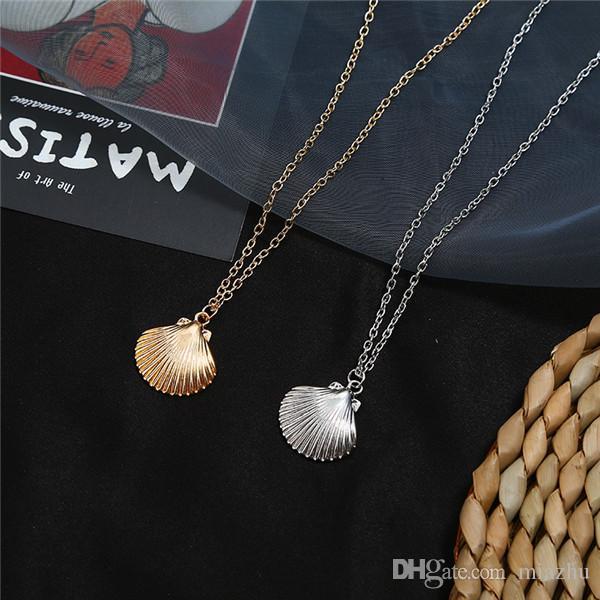 Nuovo oro d'avanguardia di colore stelle marine collana di Shell per la Lega Donne Cowrie conchiglia collana a catena Estate monili di disegno collare di trasporto