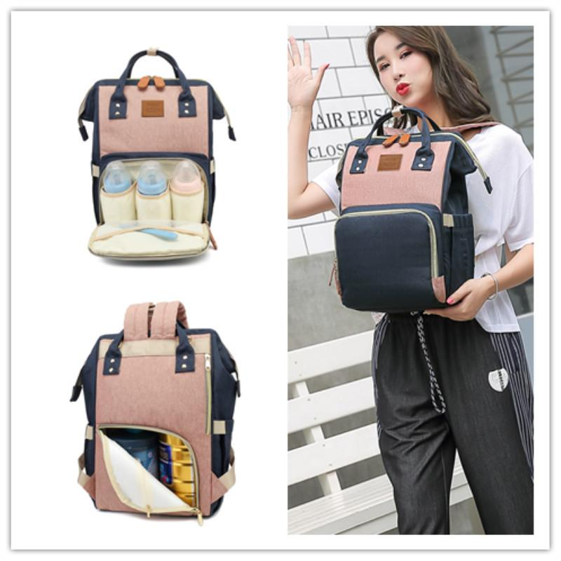 2019 New Style Multi-functional Large-Volume Diaper Bag Fashion Mommy Bag Baoma Nursing MOTHER'S with Baby Go out