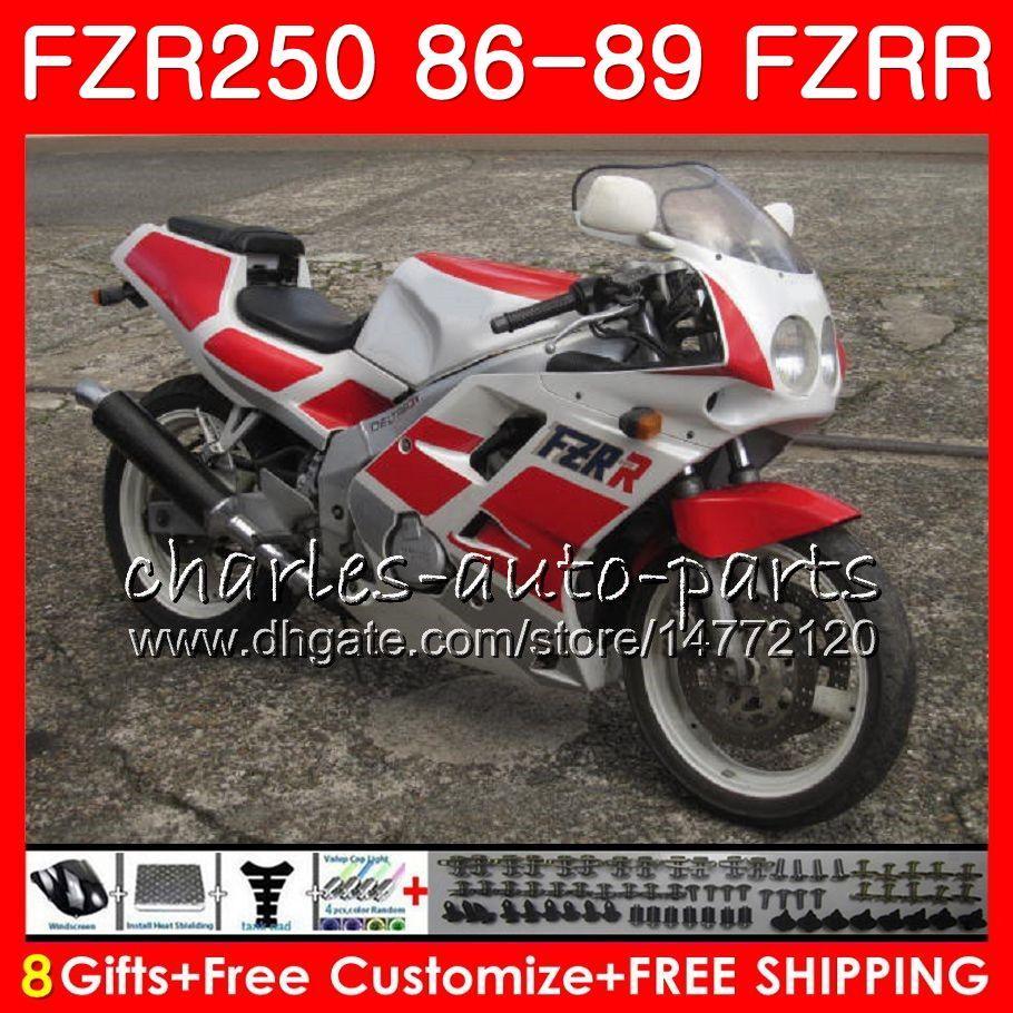 YAMAHA kırmızı parlak çerçeve için gövde FZRR 250 FZR 250R FZR 250 1986 1987 1988 1989 123HM.42 FZR250RR FZR250R FZR-250 FZR250 86 87 88 89 Fairing
