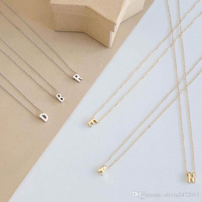 Silber gold farbe 26 anfangsbuchstaben choker halskette für frauen personalisierte anhänger halskette sommer schmuck zubehör