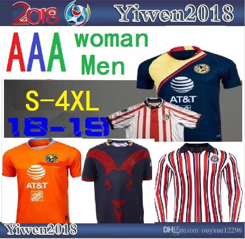 timeless design d9840 5d428 2019 Size S 4XL 2018 LIGA MX Club America Soccer Jersey 18 19 Mexico  O.PERALTA Home Away Football Jerseys Chivas Guadalajara Shirt From  Ouyxue12296, ...