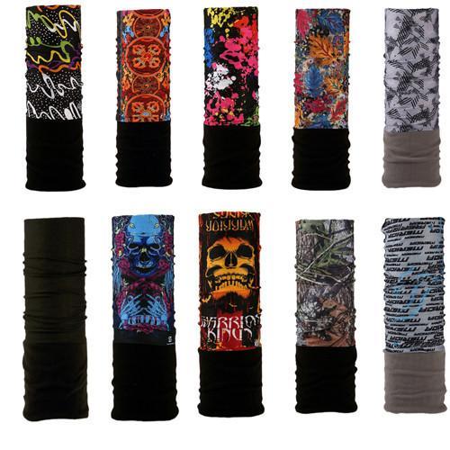 Los nuevos Mens Hip Hop invierno multifunción tubo turbante Unisex Fleece cálido Pañuelos Sombreros Bufanda mágica diadema cuello del tubo T200615