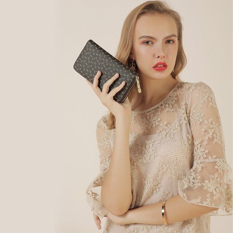 European and American style ladies casual multi-card long-capacity long wallet clutch handbags purse