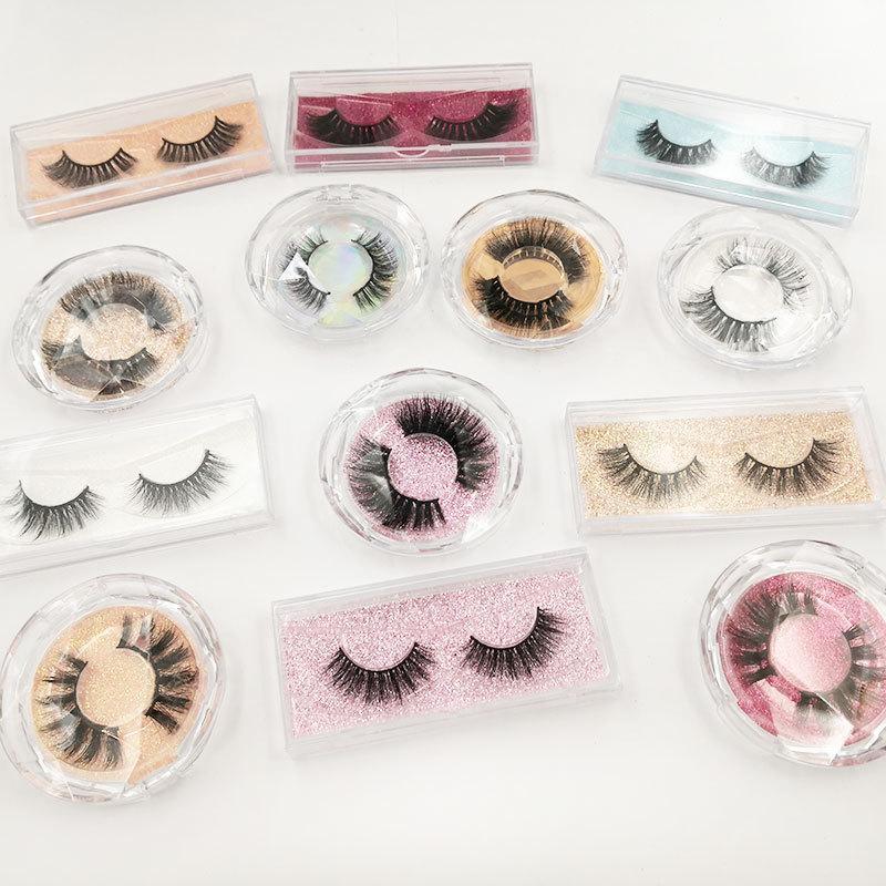 3D Mink Eyelashes Faux Mink Hair Eyelash Natural Long Thick Cross Eye Lash Extension Eye Lashes With Box Makeup Tool GGA3043-1