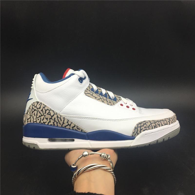 Air 3 Og True Blue 854262-106 3s III Weiß Kicks Männer Basketball-Sport-Schuhe Turnschuhe gute Qualität Turnschuhe mit ursprünglichem Kasten