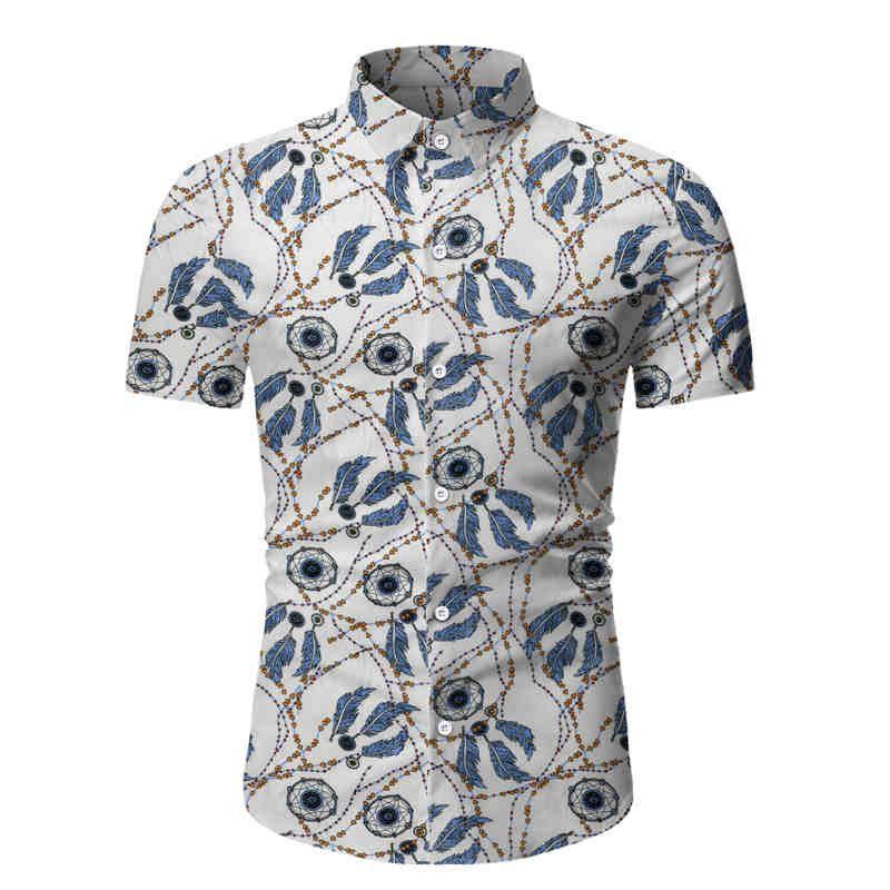 genç erkekler kum spor Beach bölgesinde moda için yeni yaz plaj tarzı kısa kollu gömlek kısa kollu gömlek baskılı