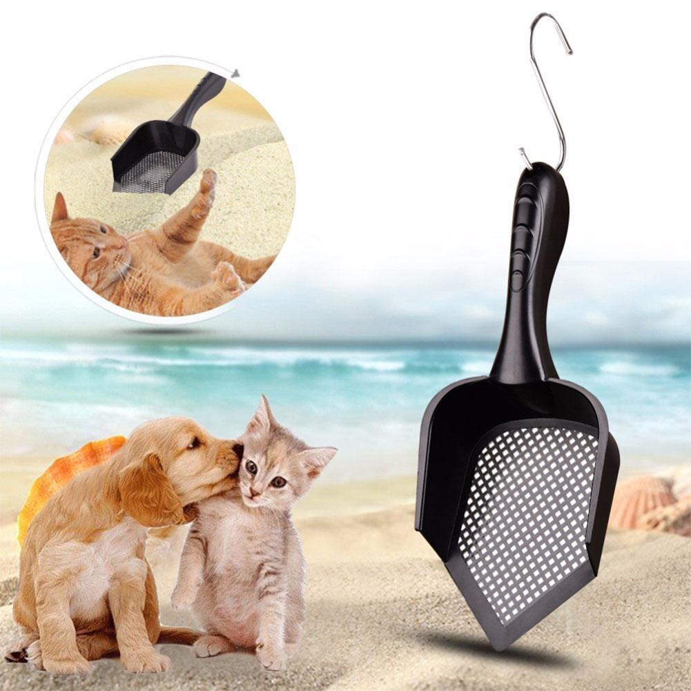 Высокое качество LanLan крытый портативный прочный пластиковый практические чистящие кошка помет совок лопатой -25