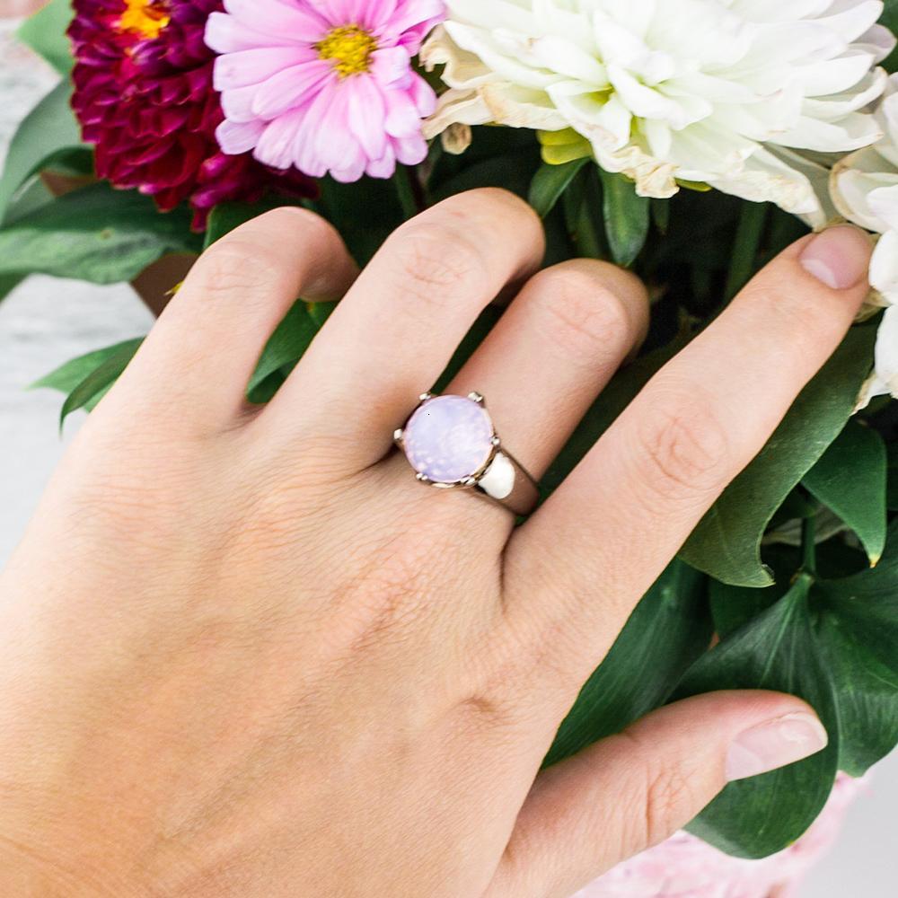 총 검은 색 긴 시간을 변화 색상 여성의 반지를 발송하지 문에 Fashion- 볼 컷 모양 핑크 지르코니아 반지 유행 보석 문