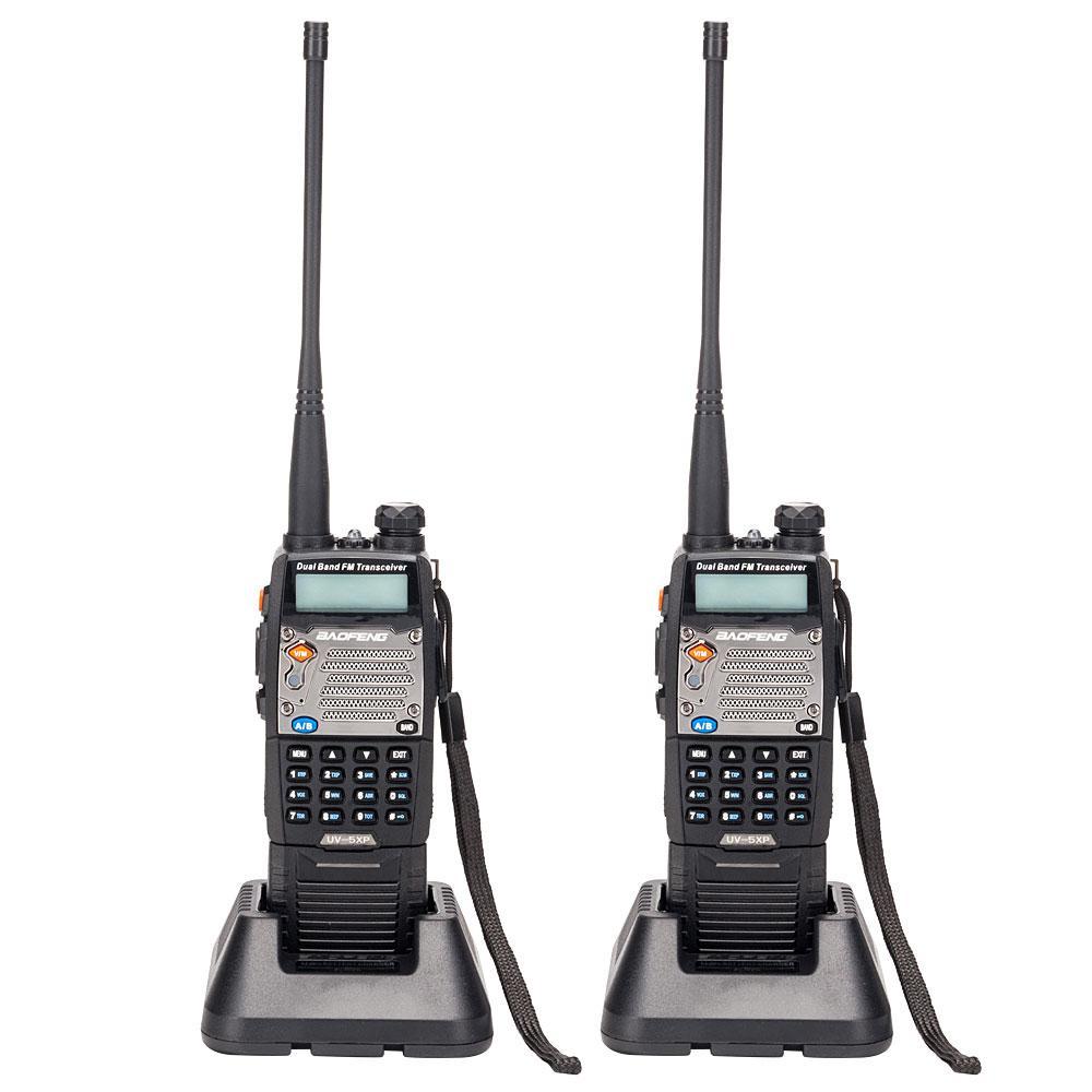 2 шт BAOFENG UV-5XP Extended Battery 3000mAh 8W Dual Band Walkie Talkie с наушниками Outdoor Remote Walkie Talkie
