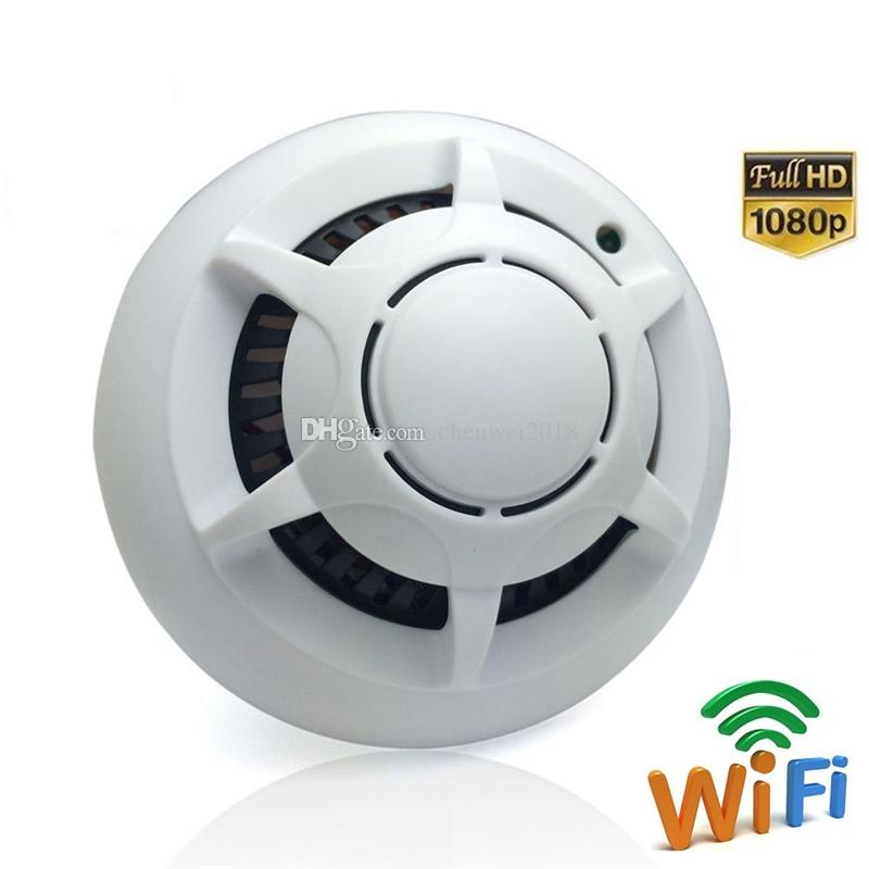 UFO WIFI Smoke Detector camera Wireless Mini IP Cameras Full HD 1080P Smoke Alarm Video Recorder Motion Detection Camcorder
