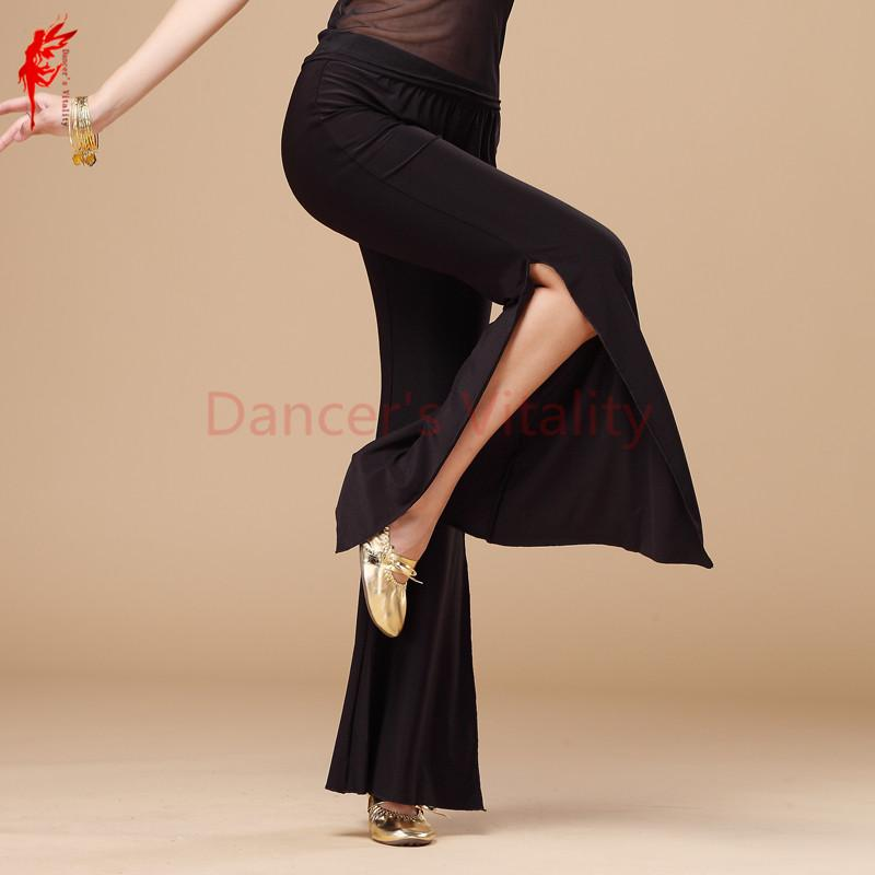 HOT SALE! crystal cottonbelly dance costumes senior split belly dance trousers for women belly pants M L XL