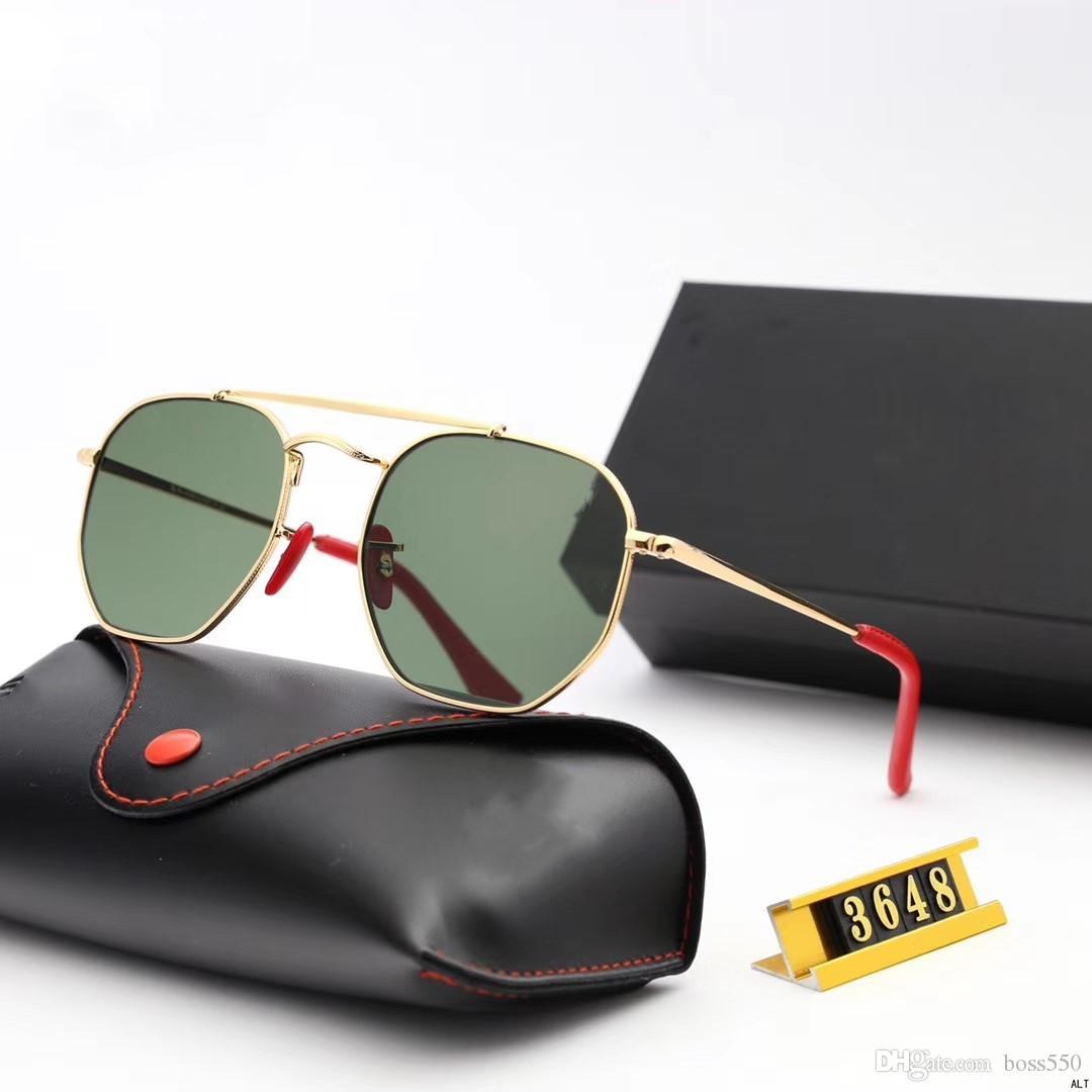 Óculos de sol de design -2019 novos óculos de sol para homens e mulheres com óculos de sol quadrados elegantes e confortáveis 3648