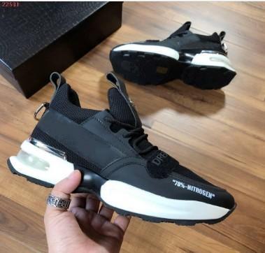Новые прибытия Sneaker-платформы Мужская обувь SS1798 Top Stars Luxury Layer Кожа заклепку Casual Мужская обувь EUR38-45 n189605
