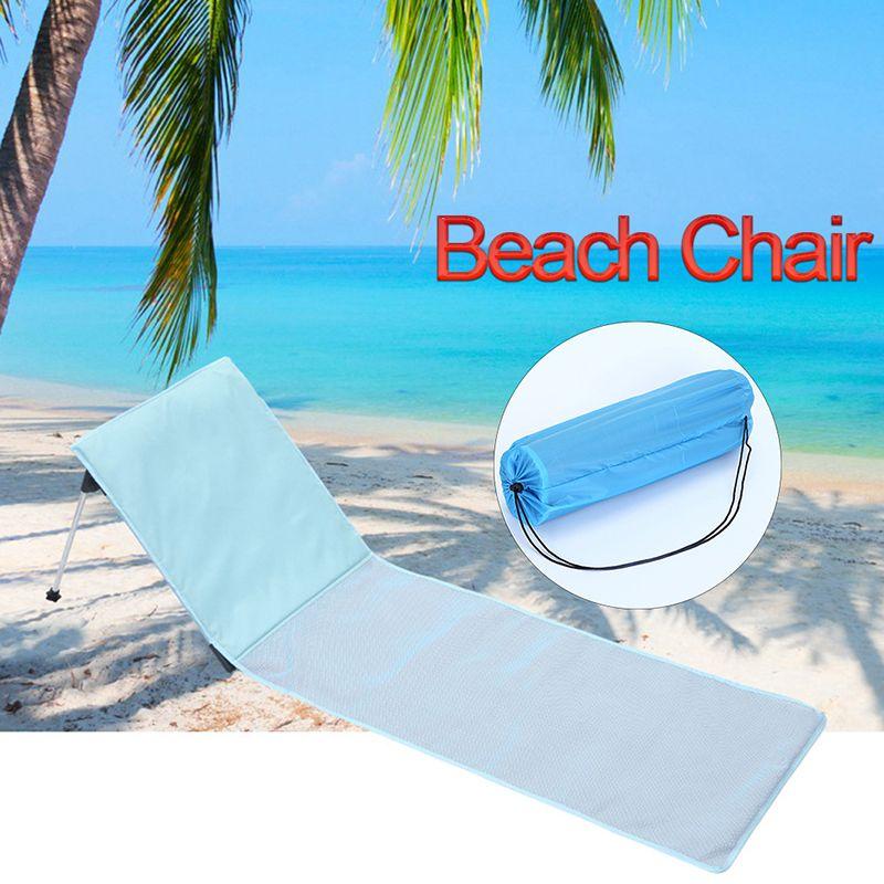 Tapis de plage portatif confortable de vacances de plage en plein air de vacances en plein air, chaise se pliante de chaise longue