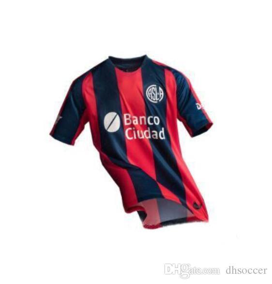 NUEVO 18 19 Camiseta de fútbol de San Lorenzo de Almagro Local Argentina Camiseta de fútbol de San Lorenzo Visitante CAUTERUCCIO BARRIENTOS BLANCO