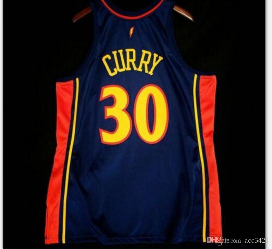 De Hombres jóvenes Vintage mujeres Stephen Curry NARANJA 09 10 Jersey de la universidad de baloncesto tamaño S-4XL o costumbre cualquier nombre o el número del jersey