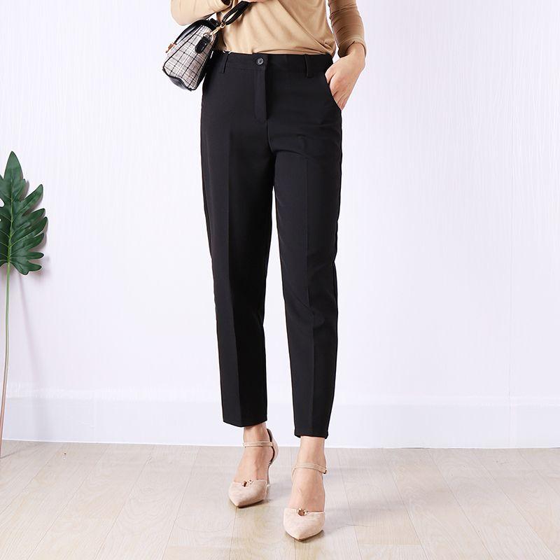 pantalon noir confortable pour bureau