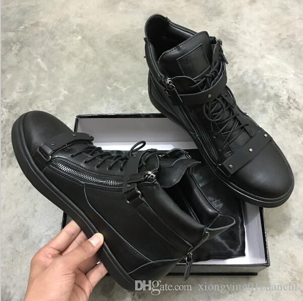 first rate picked up super cheap 2019HOT NEW Italy Luxury Zanotti Casual Shoe Color Matching Zipper ...