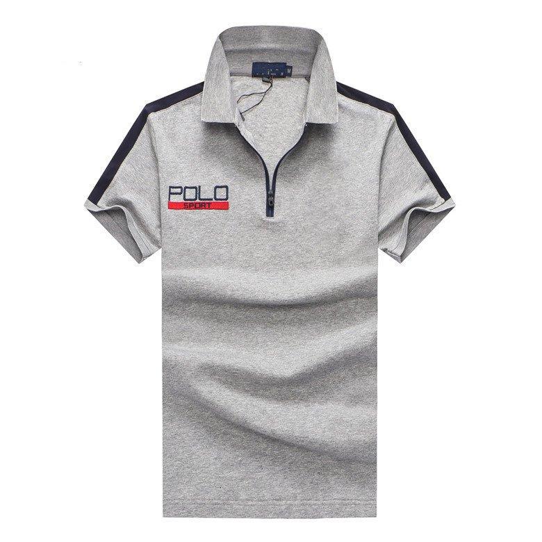 T-shirt de alta negócio dos esportes qualityMensMens Hot Vendas shirt Luxury Design Verão Masculino Turn-Down Collar manga curta camisa de algodão homens Top