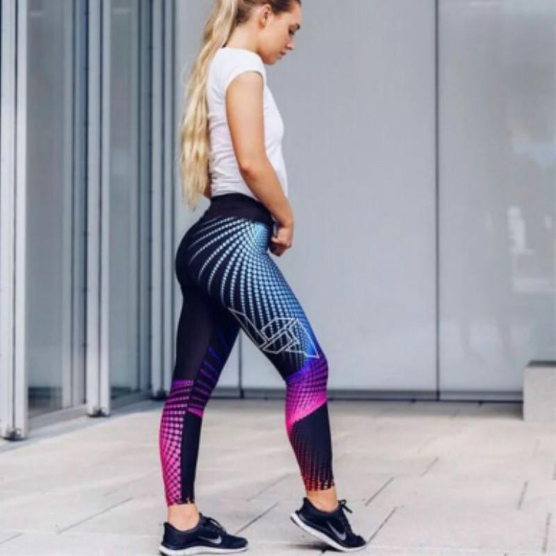 Leggings di lusso delle donne Pantaloni di yoga dello sport speciali di yoga di modo colorato Leggings del fitness di modo variopinto Gym di marca che corrono stretti pantaloni a tenuta di lusso 2020