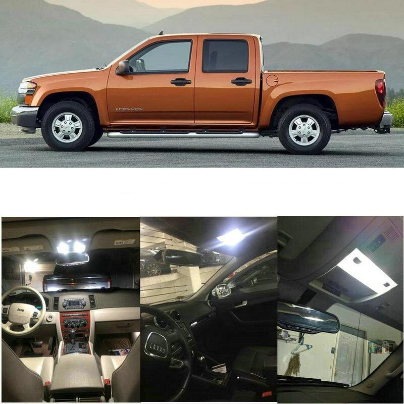 Car Interior Led Light Kit For 2006 GMC Canyon 8pc Licnse plate Dome Map trunk Lamp bulb error free t10 36mm 42mm