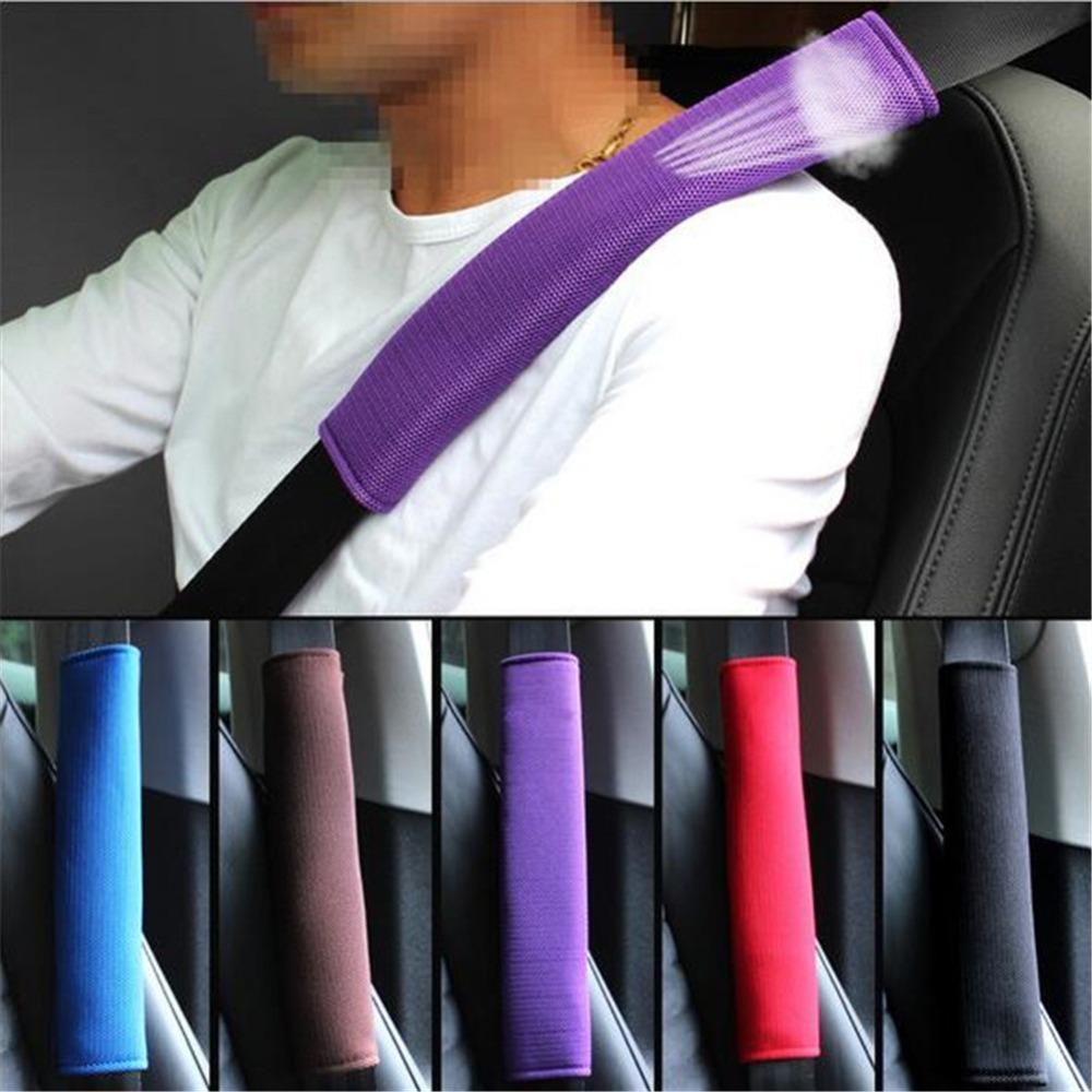2Pcs Breathable Car Safety Belt Cover Seat Belt Pad Sandwich Seat Shoulder Pads Auto Seatbelt Shoulder Protective Strap Pad