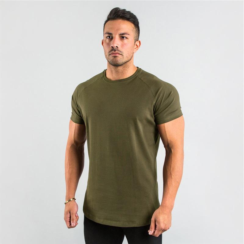 verano camisas de manga corta T hombres sencillos o cuello de ropa tapa sólida hombre camiseta ocasional streetwear Camisetas