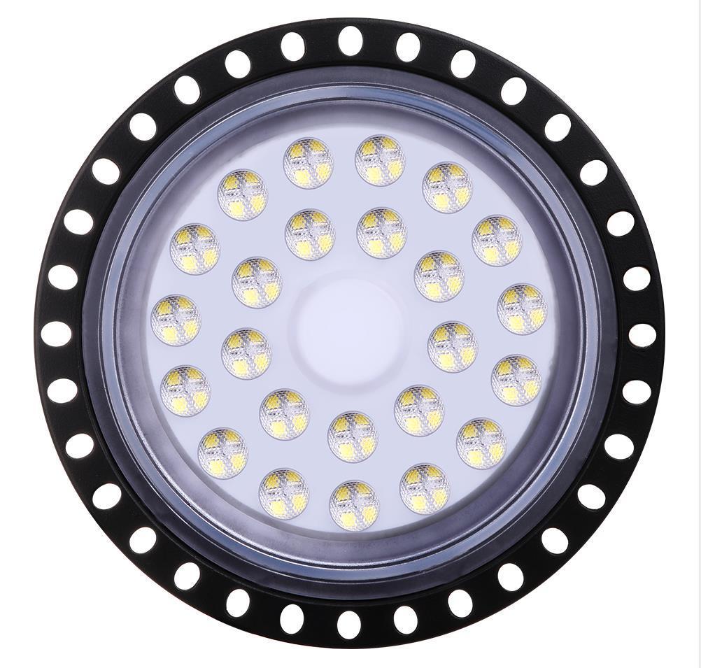 LED High Bay Licht 100W 150W 200W wasserdicht IP65 Außen 110V Flutlicht UFO kühler weißen LED-Licht Bühnenbeleuchtung dünnen Geschäft Runde Kronleuchter