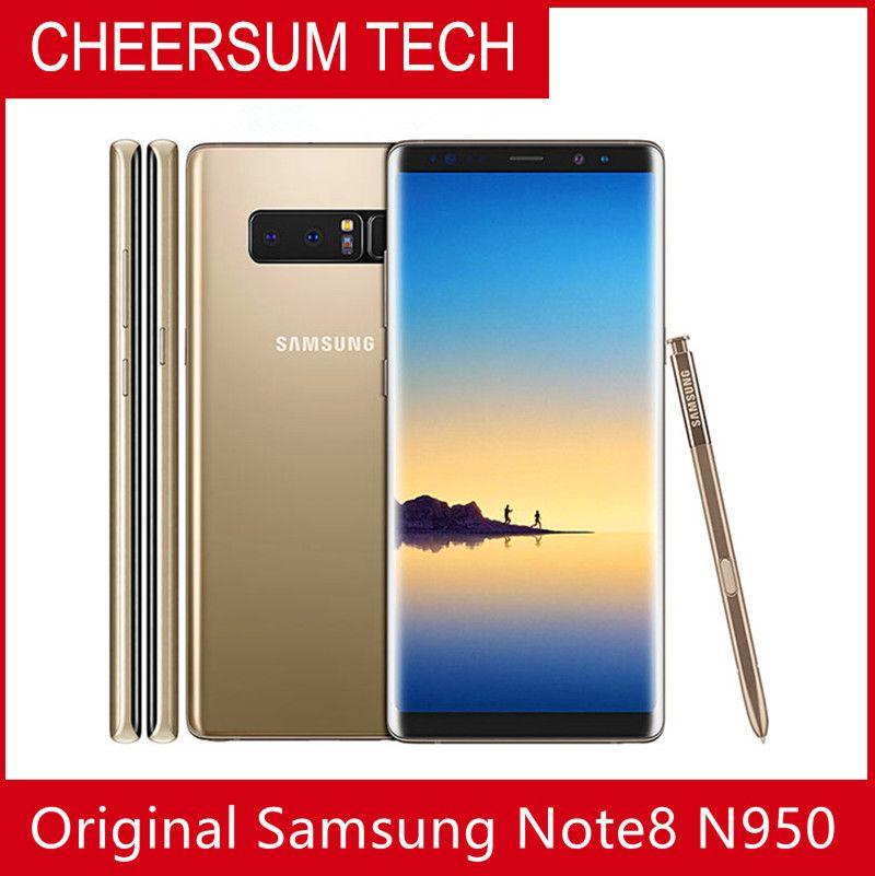 "Samsung Galaxy Note8 Not 8 N950 Orijinal Unlocked LTE Android Cep Telefonu Octa Çekirdek 6.3 ""Çift 12MP 6G RAM 64G ROM Snapdragon 835"