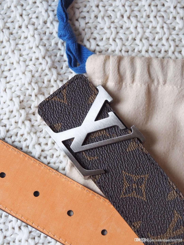 2020 nouvelle ceinture hommes occasionnels design avec la ceinture de mode formel jeans hommes avec la boîte