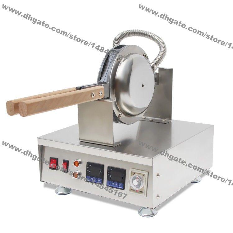 Ücretsiz Kargo Ticari Kullanım Yapışmaz 110 V 220 V Elektrikli Dijital Yumurta Waffle Makinesi Eggettes Puf Makinesi Kabarcık Waffle Baker Demir