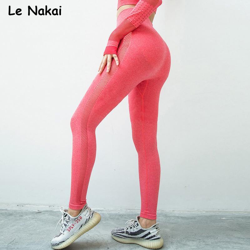 Hohe Taille nahtlose Gamaschen Sport Frauen Fitness Yoga legging dicken Stoff Turnhalle legging Training Sport Leggings sportlich Strumpfhosen Y200106