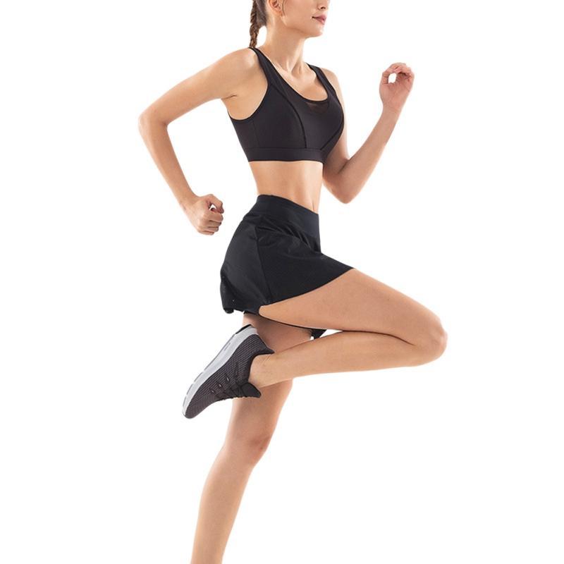 السراويل الرياضية النسائية القصيرة التنس السراويل التنس SkirtYoga الملابس الرياضية السراويل اللياقة البدنية