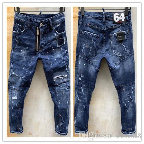 2020 neue Marke von modischen europäischen und der amerikanischen Männern lässige Jeans, hochwertige Wäsche, reine Hand Schleifen, Qualitätsoptimierung LT108