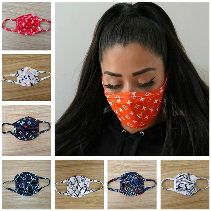 Cara Designer Luxo Máscara Anti Poeira Ultraviolet à prova de boca-de mufla Máscaras Homens mulheres enfrentam Marca Protector lavável face Esporte Máscara Melhor