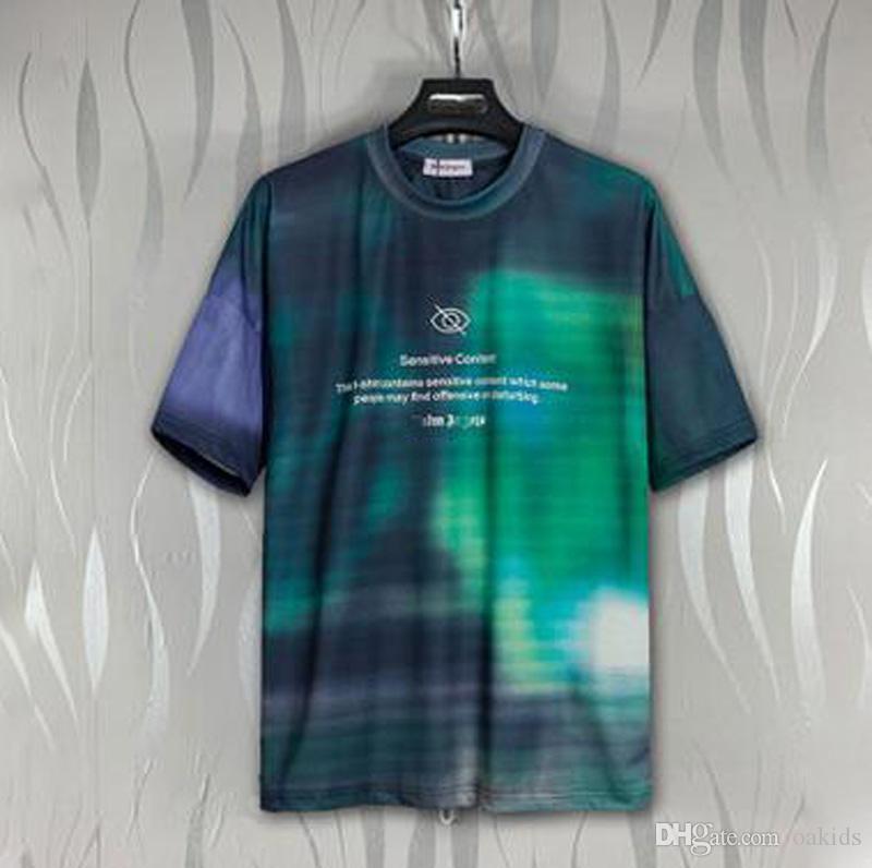 2020 nuovo arrivo di qualità superiore T-shirt da uomo Designer verdi Camicie colorate stampati tintura del legame T Estate cotone da uomo casual manica corta Via Tee