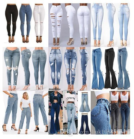 2021 2020 Fashion Sexy Women High Waisted Jeans Skinny For Womens Designer Jeans Slim Pants Vintage Hole Ripped Jeans Plus Size Denim Pants From Liuk1084577491 57 29 Dhgate Com