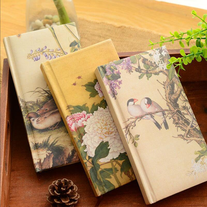 Silk surface exquisite notebook stationery Chinese style portable notepad creative diary art book for students