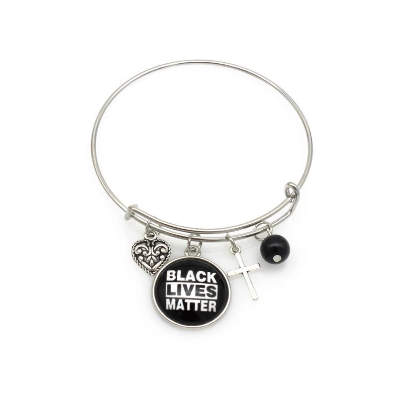 Infinity Bracelets en cuir noir vie Matière Jésus Coeur Love Letters Charm Fashion Braid Wrap Bracelet Bangles Cadeaux Bijoux Hommes Femmes