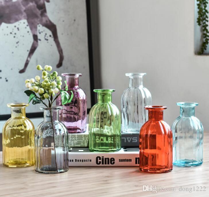 الزجاج النباتات المائية غرفة إناء الاسكندنافية الصغيرة الطازجة الديكور غرفة المعيشة الجدول الديكور زهرة ترتيب