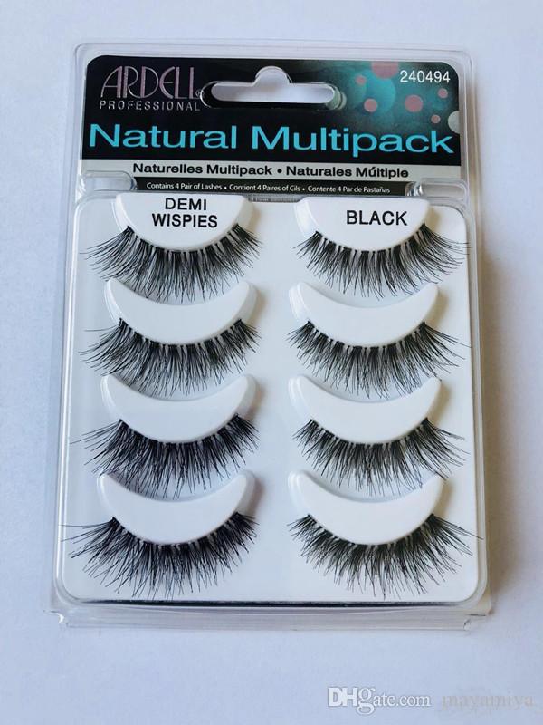ARDELL eyelashes 4pair/lot 100% Real Siberian 3D Full Strip False Eyelash Long Individual Eyelashes Lashes Extension
