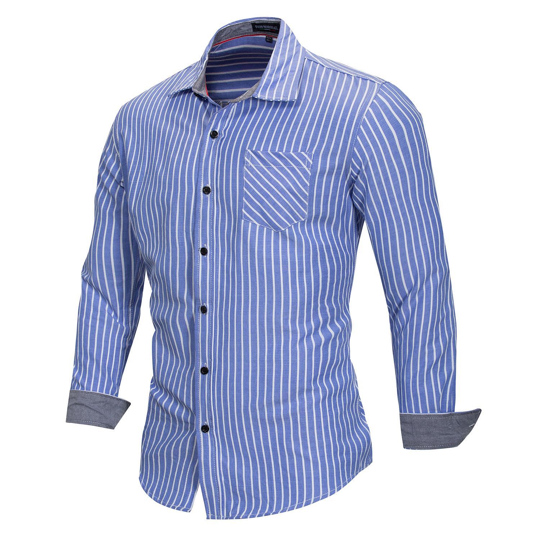 Sweat-shirt Homme Printemps Créateur de t-shirt rayé printemps T-shirt manches longues hommes Vêtements pour hommes Casual Outfit 2 couleurs M-3XL gros