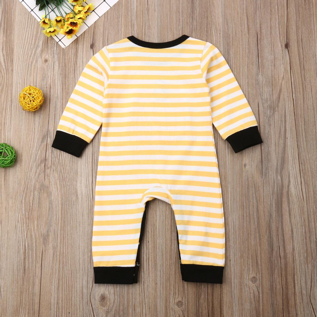 Autumn Bebé recém-nascido Menino da abóbora Romper Jumpsuit Tops Calças Leggings Set Halloween roupa listrada Festival queda