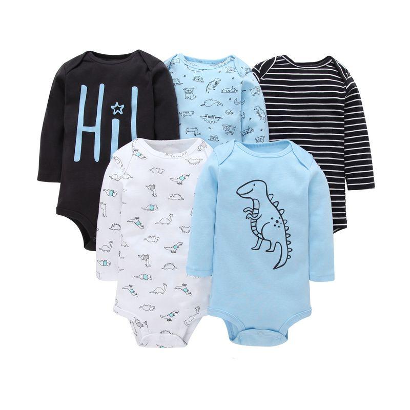 2018 Baby Romper Set Spring Autumn Newborn Clothes Baby Girl Boy Costume Long Sleeve Cartoon Dinosaur Romper Infant Jumpsuit J190524