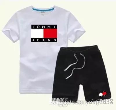 coton T-shirt et pantalons enfants coton costume bébé fille sport bébé costume d'été conviennent 2 pièces / set myt6